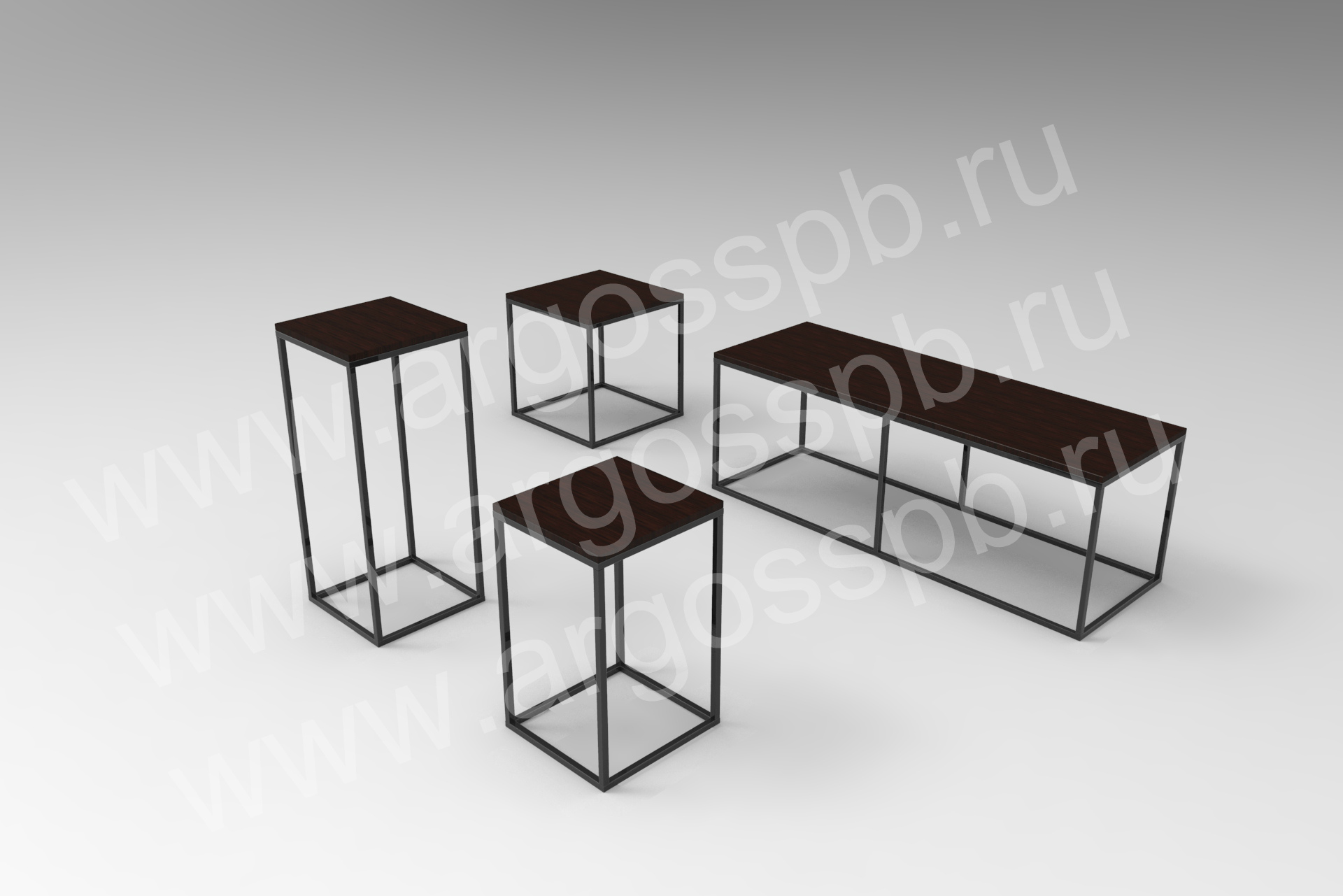 Комплект темных столиков СТ 107