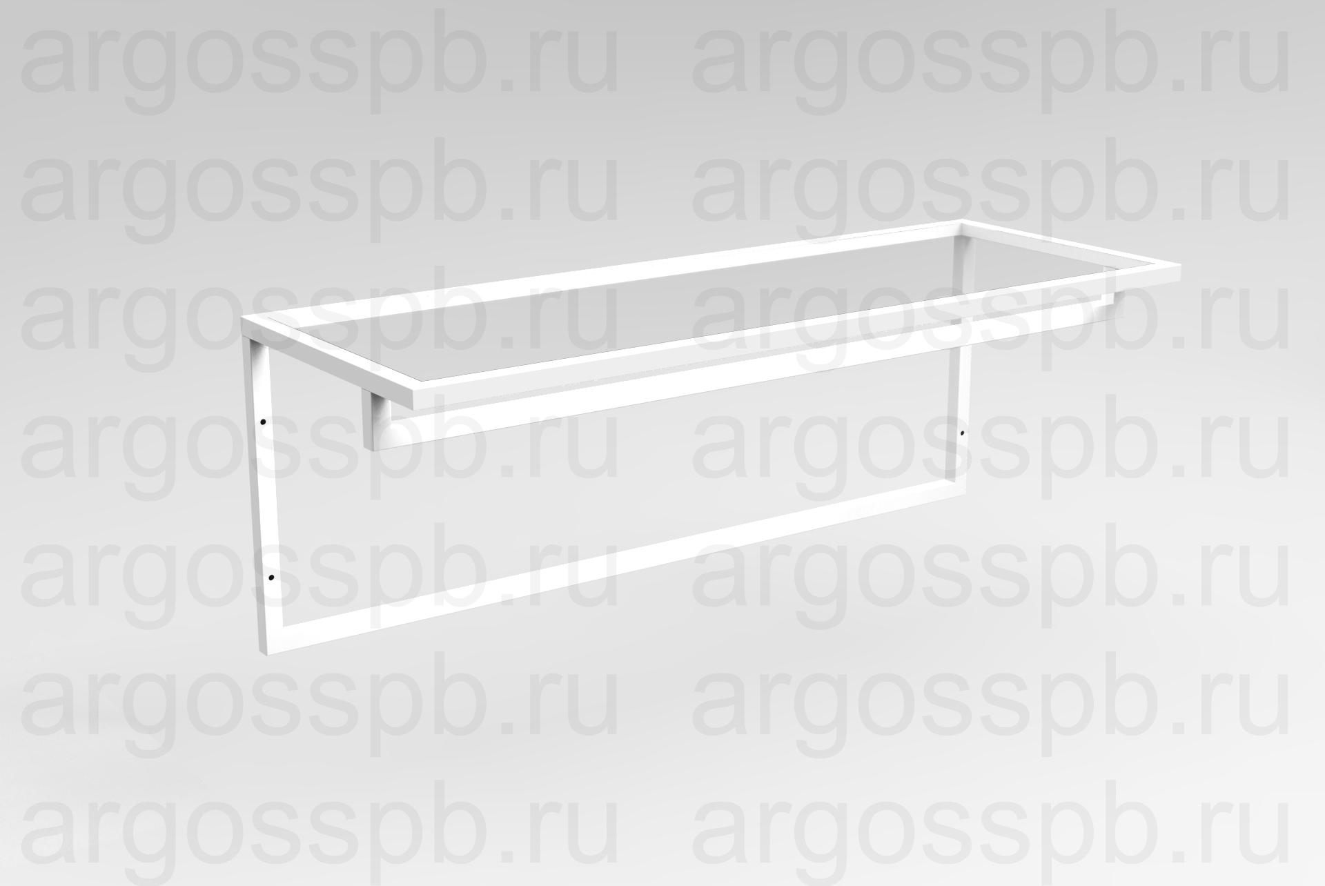 Вешало-полка белая ТО 029