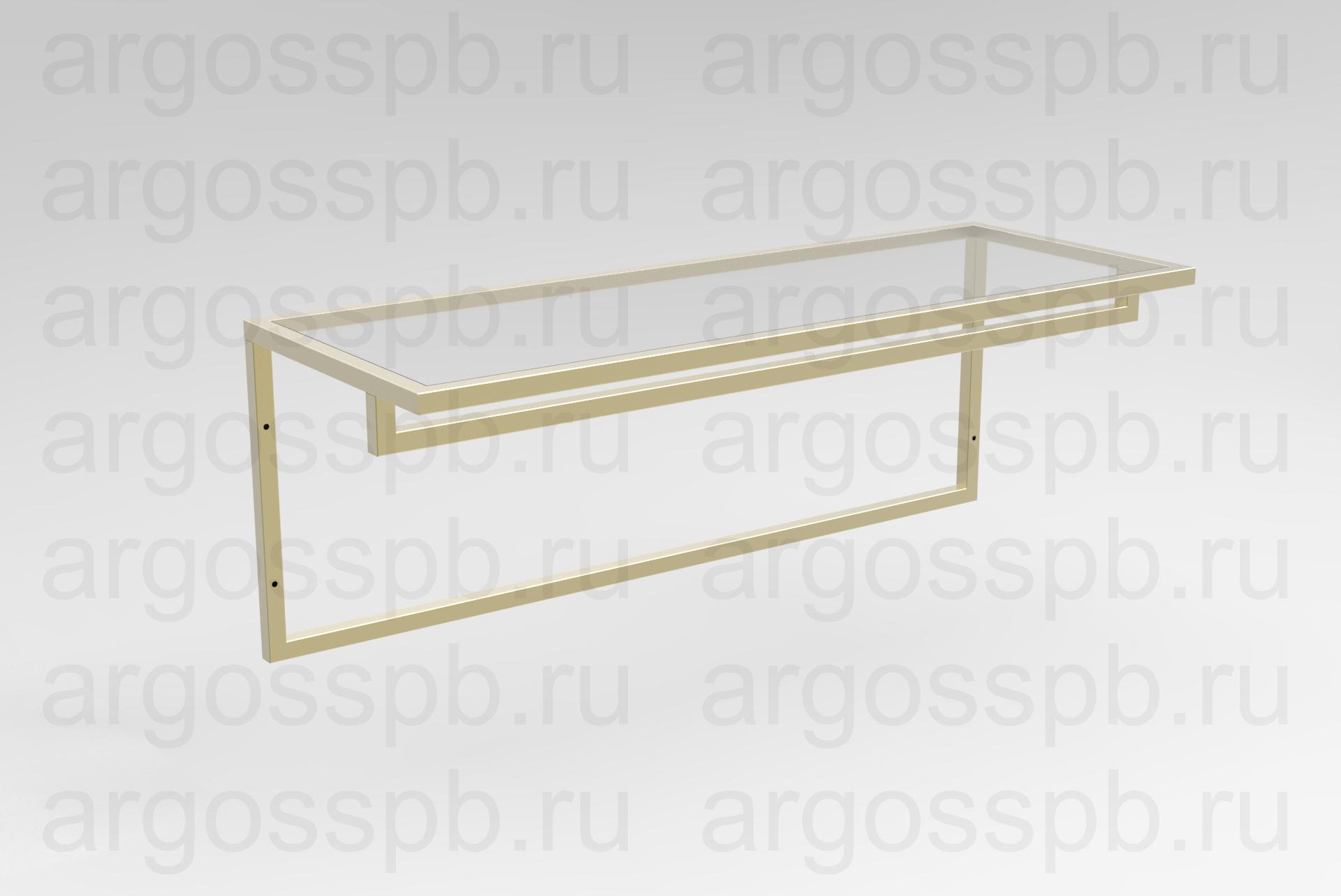 Вешало-полка золотая ТО 029