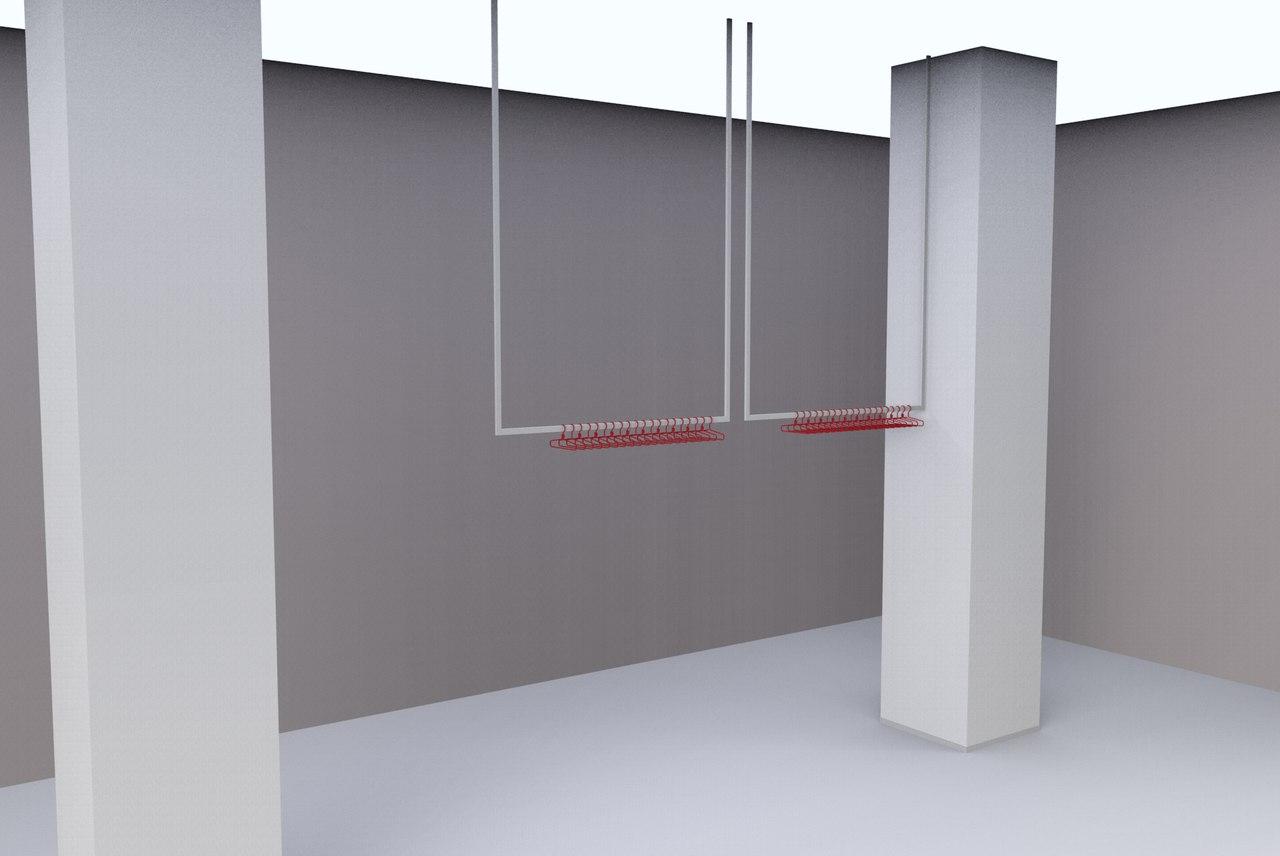 Потолочное вешало с креплением в потолок