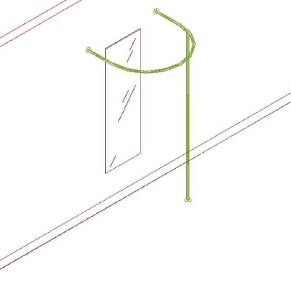 Схематичное изображение полукруглой примерочной